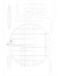 SAUCER Model 1 model airplane plan