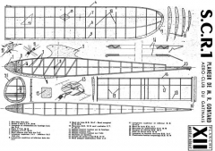 SCR 1 glider model airplane plan