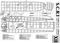 SCR 1 glider model airplane plan