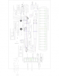 SC 150r Trainer Model 1 model airplane plan