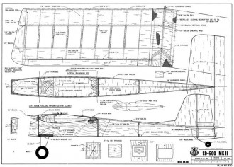 SD-500 Mk II model airplane plan