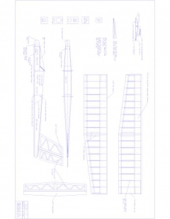 SDF-1 Model 1 model airplane plan