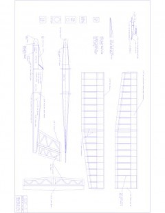 SDF-1 Model 1 model airplane plan