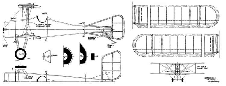 SE-4 Racer model airplane plan