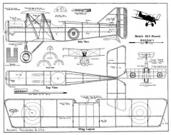 SE-5A megow model airplane plan