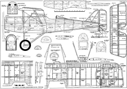 SE-5 model airplane plan