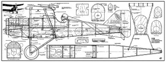SE5 32in model airplane plan