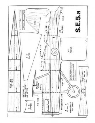 SE5a model airplane plan
