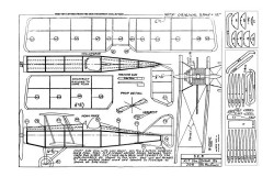 SE5a 12in model airplane plan