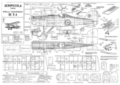 SE5a CL model airplane plan