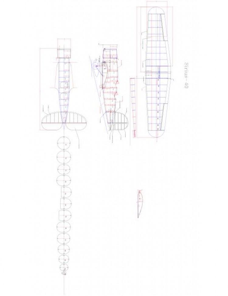SIRIUS-40 Model 1 model airplane plan