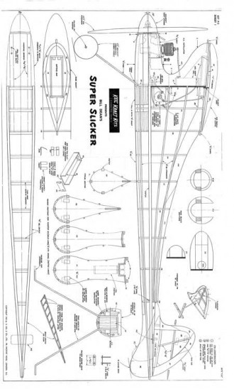 Super Slicker model airplane plan