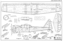 SNJ-AT6 RCM-09-71 470 model airplane plan