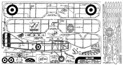 SPAD 2 model airplane plan