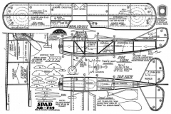 SPAD 1930s guillows model airplane plan
