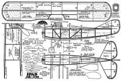 SPAD No.-F49 model airplane plan