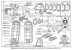 Bleriot - SPAD S.510 model airplane plan