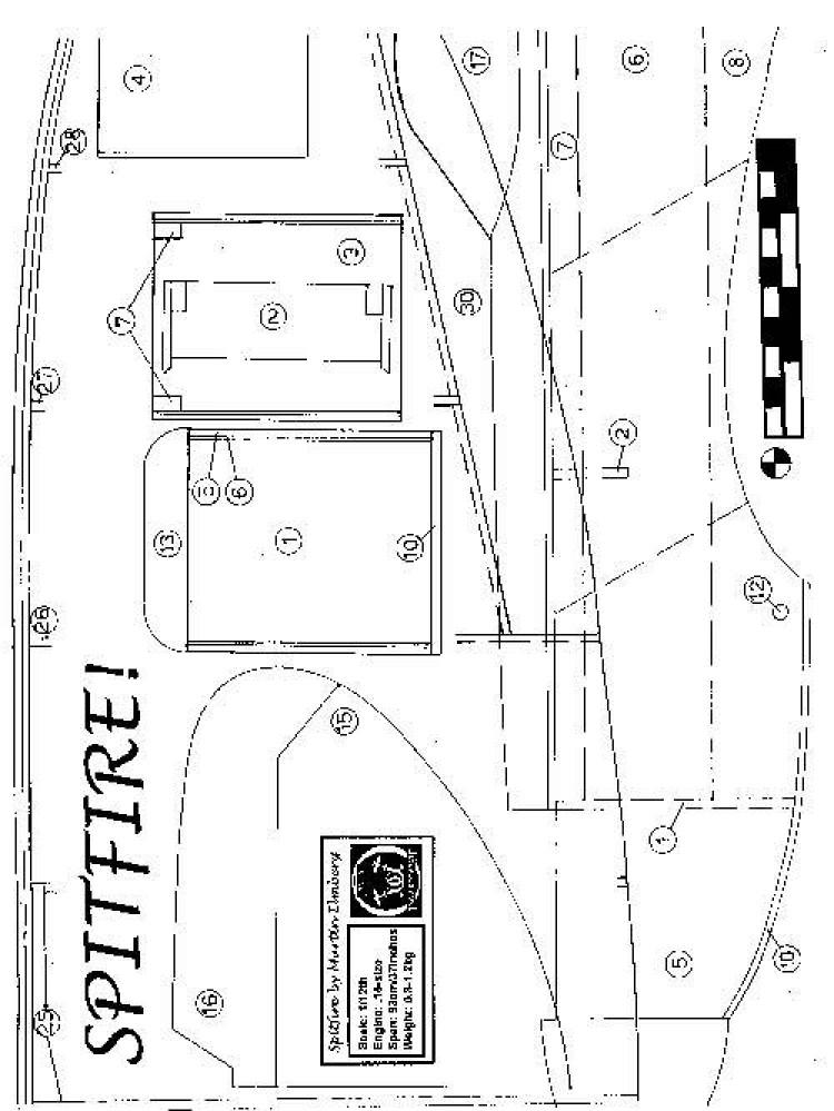 SPIT1 model airplane plan