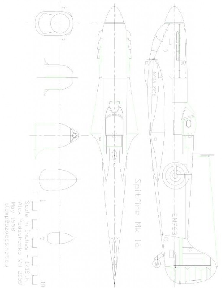 SPITFUS2 Model 1 model airplane plan