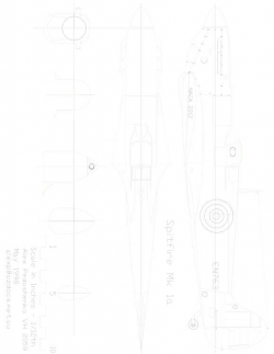 SPITFUSE Model 1 model airplane plan