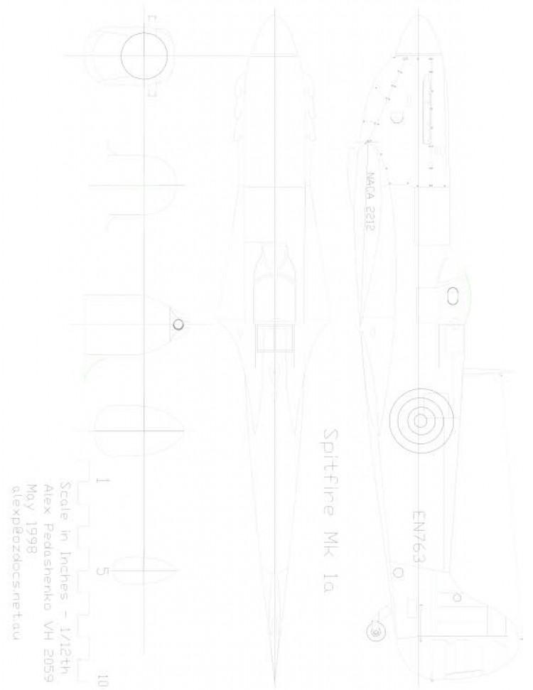 SPITFUSE Model 1 model airplane plan