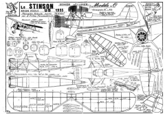 Stinson Model O model airplane plan