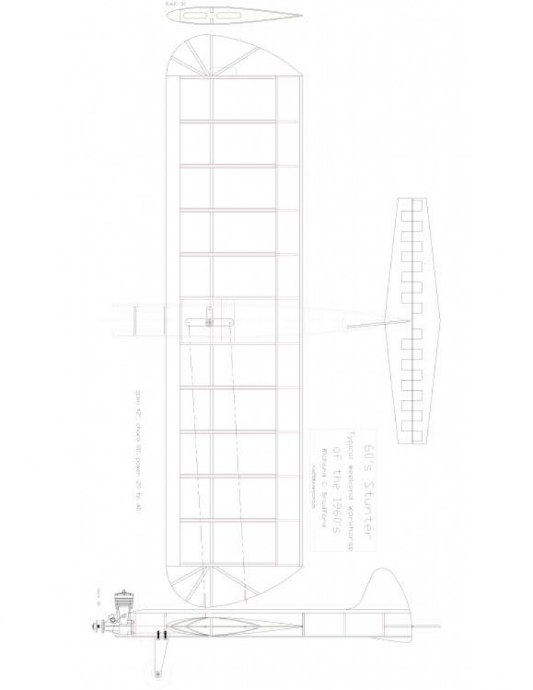STUNT Model 1 model airplane plan