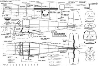 Saab-91C-Safir model airplane plan
