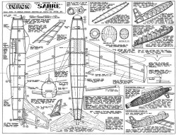 Sabre 18in model airplane plan