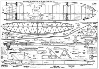 Sad Sam 7 model airplane plan