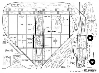 Safire CL model airplane plan