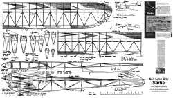 Salt Lake City Sadie model airplane plan