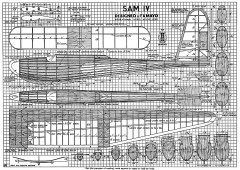 Sam IV glider model airplane plan