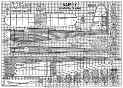 Sam IV glider model airplane plan