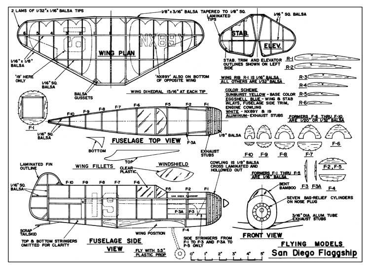 San Diego Flaggship F-15 model airplane plan