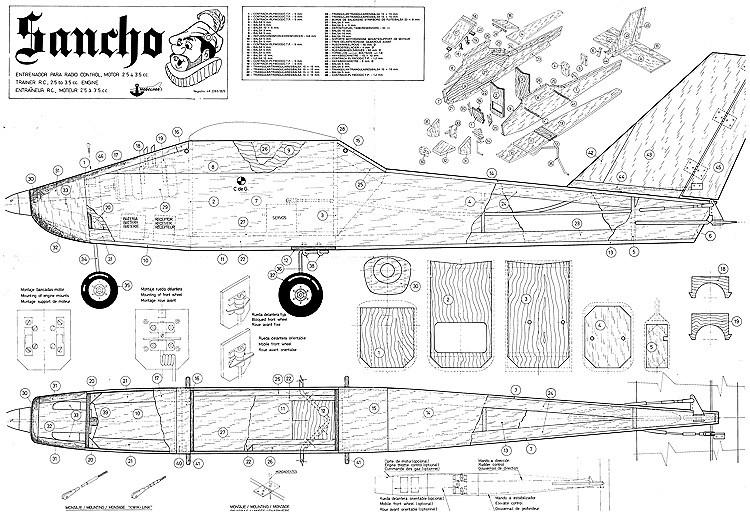 Sancho Modelhob RC model airplane plan