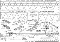 Santanita Glider model airplane plan