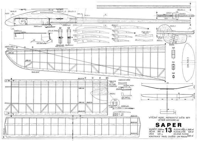 Saper model airplane plan