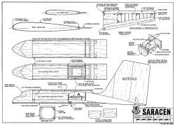 Saracen RCM-638 model airplane plan