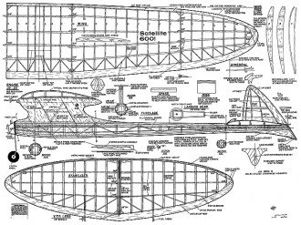 Satellite 600 1959 model airplane plan