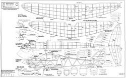 Satin Doll model airplane plan