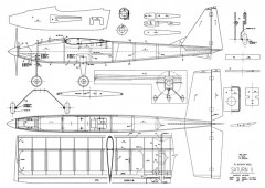 Saturn II model airplane plan