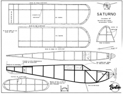 Saturno 25in model airplane plan