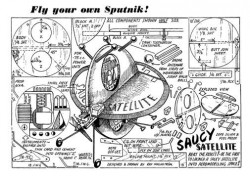 SaucySatellite model airplane plan
