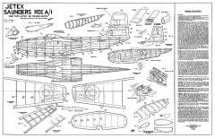 Saunders Row A-1 Jetex model airplane plan