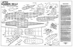 Saunders-Roe A/1 model airplane plan