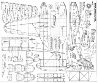 Savoia Marchetti S55X model airplane plan