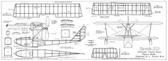Savoia S13 model airplane plan
