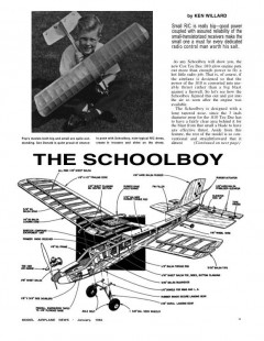 SchoolBoy model airplane plan