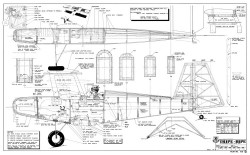 Schutt Tripe-Bipe RCM-04-92-1115 model airplane plan